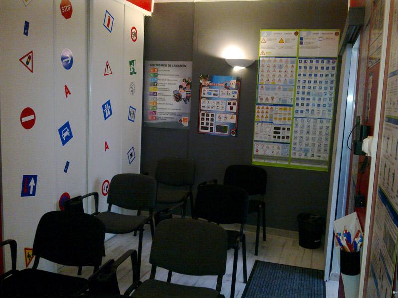Salle de code vue 1- auto-école nancéienne (nancy 54 -quartier 3 maisons) - permis de conduire